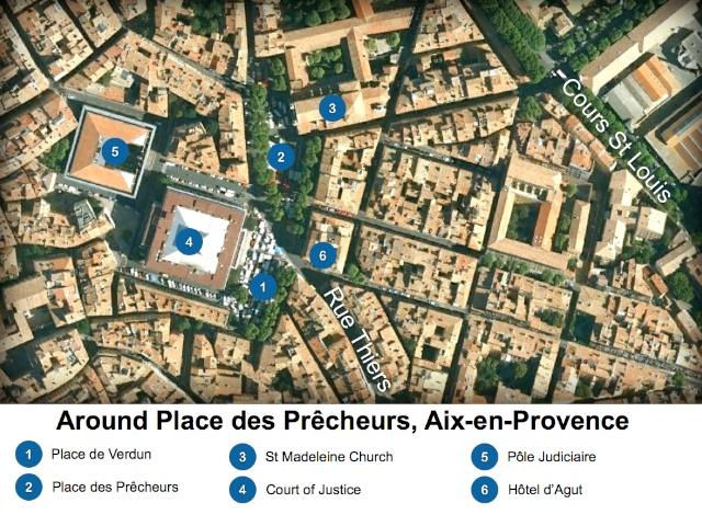 Aix-en-Provence Map Around Place des Prêcheurs