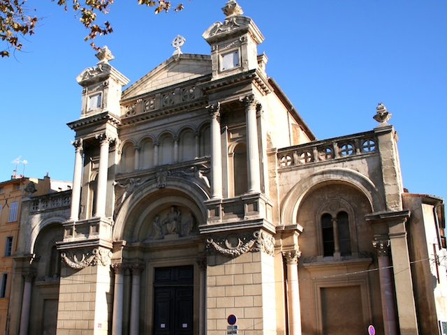 Façade of Eglise de la Madeleine, Aix-en-Provence © Photo: Georges Seguin, licence [CC BY-SA 3.0], from Wikimedia Commons