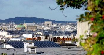 Arc de Triomphe and Palais Garnier from Parc de Belleville © French Moments