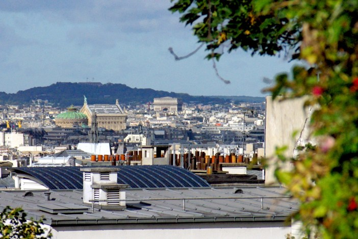Arc de Triomphe and Palais Garnier from Parc de Belleville © French Moments