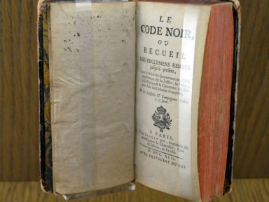 Code noir (1742 edition) exhibited at Nantes history museum ©Selbymay CC BY-SA 3.0, from wikimedia common