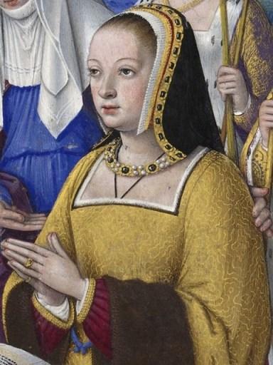 Portrait of Anne de Bretagne, by Jean Bourdichon (approximately 1503)