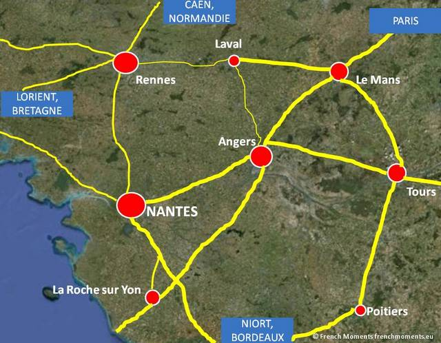 Situation map Nantes © French Moments