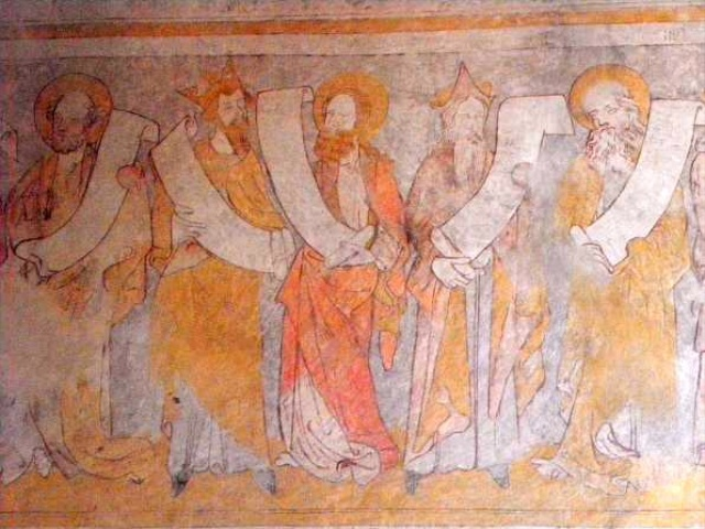 Les Prophètes fresco in Crémieu's church © GO69, licence [CC BY-SA 3.0], from Wikimedia Commons