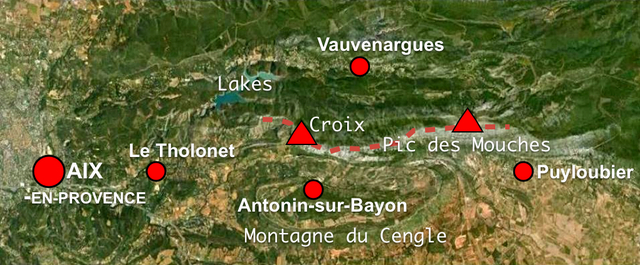 Map of Montagne Sainte-Victoire