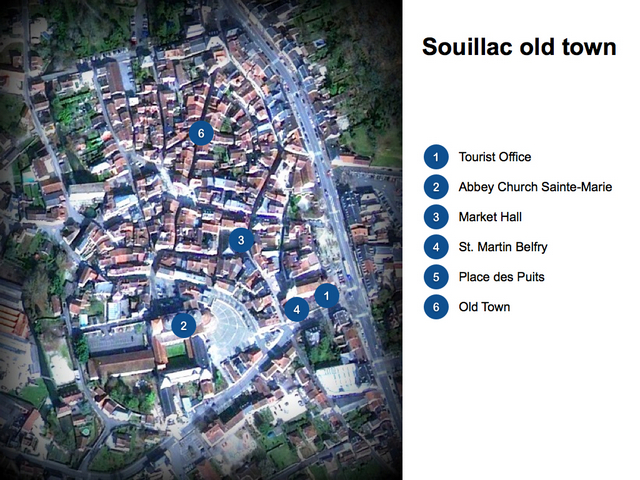 Souillac Old Town Map