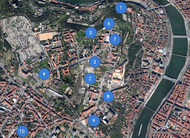 Lyon Fourvière Map