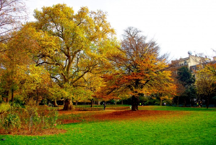 French Quotes and sayings about Autumn. Park Monceau, Paris © French Moments