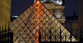 Louvre and Glass Pyramid by Night Paris © French Moments