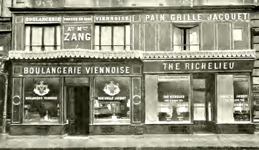 The Zang and Schwarzer bakery in Paris in 1909