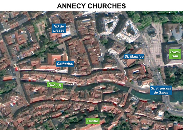Annecy Historic Churches Map