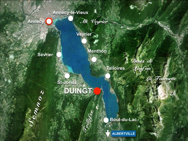 Map of Duingt