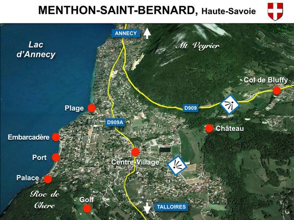 Map of Menthon Saint Bernard