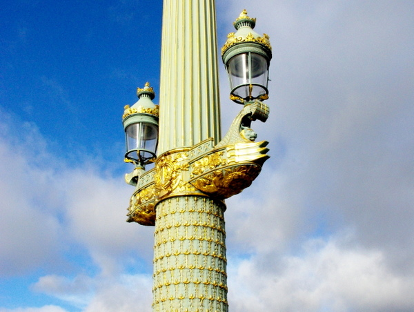 Detail Of Lamp Post In Place De La Concorde © French Moments