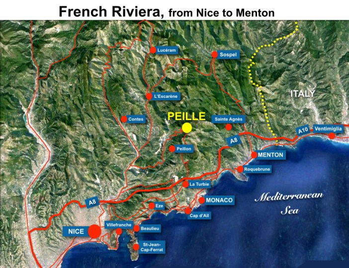 Peille Situation Map