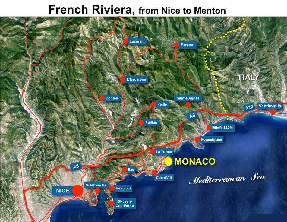 Situation Map Monaco French Moments