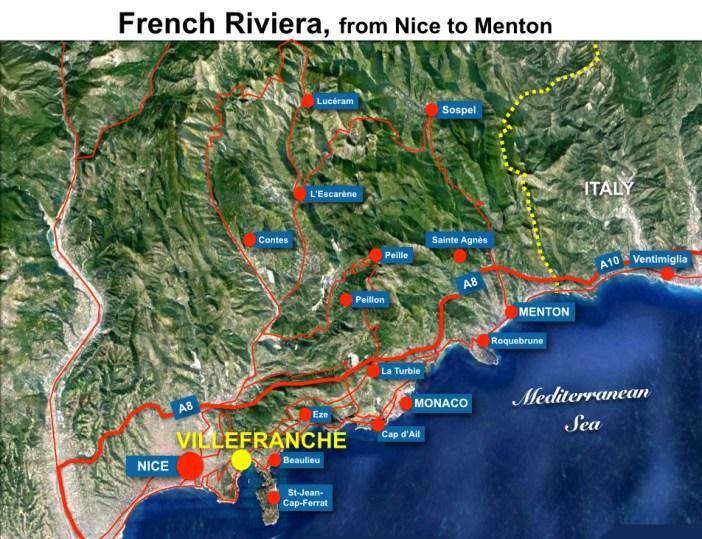 Villefranche-sur-Mer Situation Map