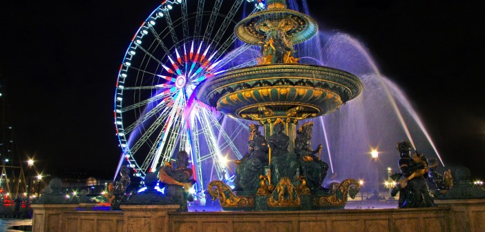 Grande Roue et Fontaine Place de la Concorde © French Moments