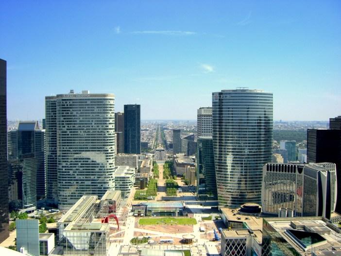 The view from the top of the Grande Arche de La Défense © Craig Rettig