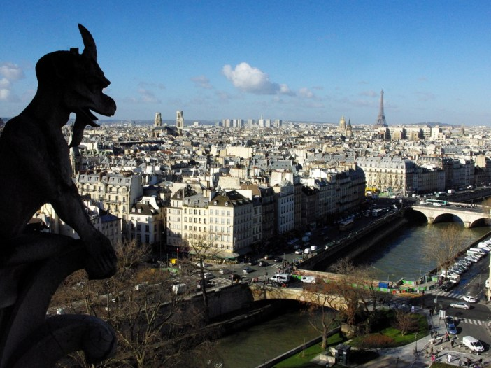 Goat-shaped Chimera, Towers of Notre-Dame © French Moments
