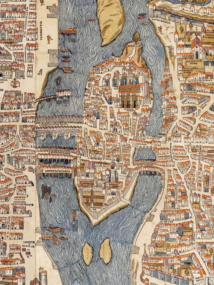 Ile de la Cité circa 1550