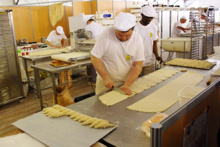 The making of French croissant at the Paris Bread Festival © French Moments