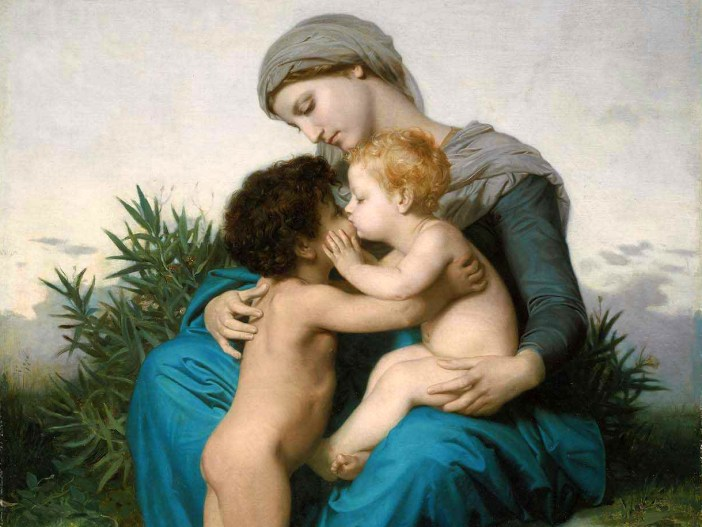 L'amour fraternel, painting by William Bouguereau 1851