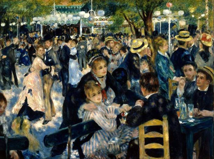 The Bal du moulin de la Galette by Pierre-Auguste Renoir 1876