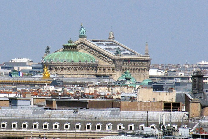 Palais Garnier viewed from Centre Pompidou copyright French Moments