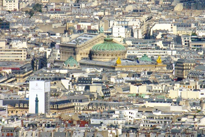 Palais Garnier viewed from Tour Montmarnasse copyright French Moments