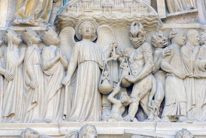 The Upper Frieze, Tympanum Portal of Last Judgment Notre-Dame © French Moments