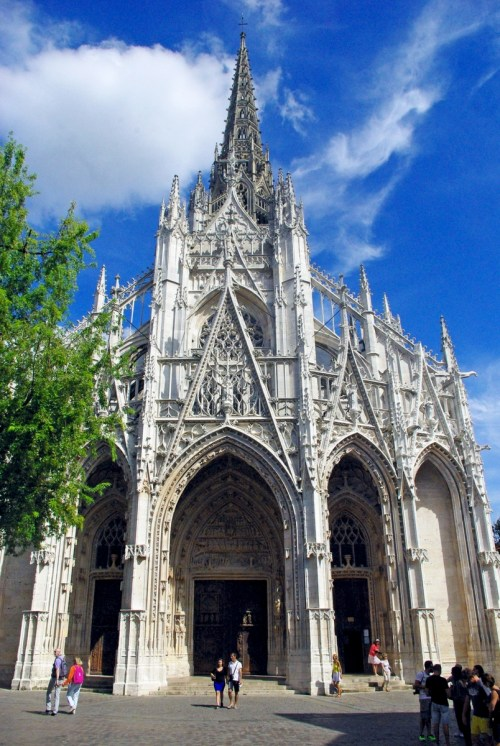 Facade of Saint Maclou in Rouen copyright French Moments