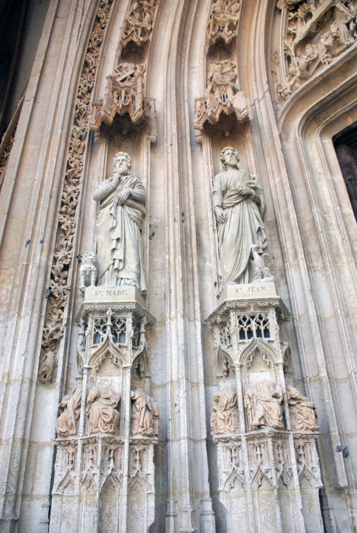Main portal left Saint Maclou in Rouen copyright French Moments
