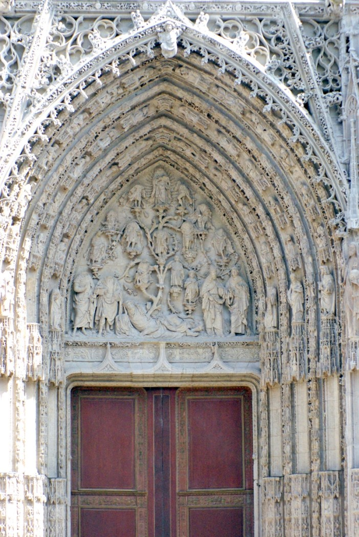 Portal Notre Dame, West Facade of Notre-Dame Cathedral in Rouen © French Moments