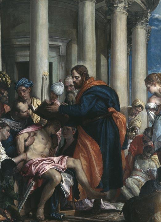 Saint Barnabé guérissant les malades Veronese