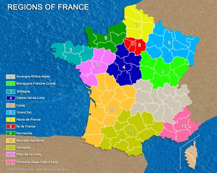 Map Of Regions Of France.Regions Of France French Moments