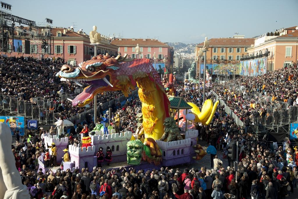 Desfile de Carnaval na Place Masséna