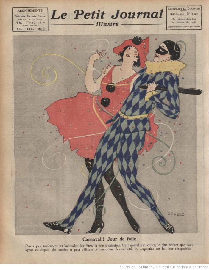 The 1920 edition of the Carnival featured on the Petit Journal illustré (#1628)