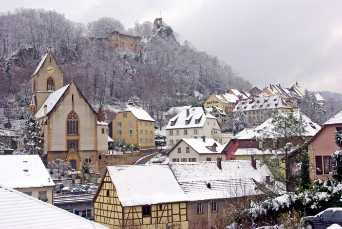 The little town of Ferrette under the snow © French Moments