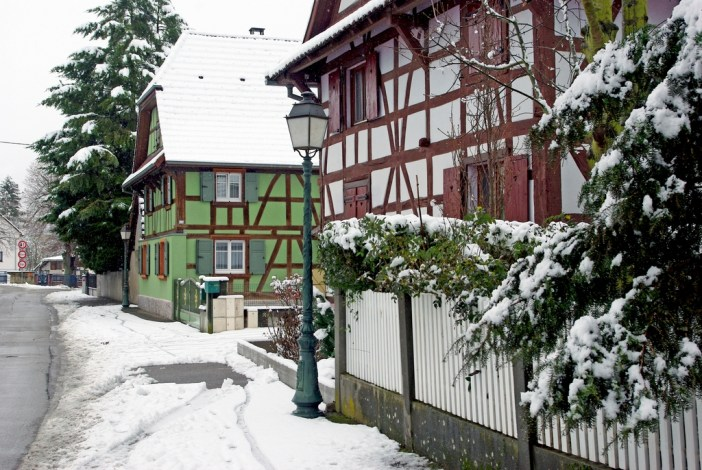 Half-timbered houses in Hirsingue © French Moments