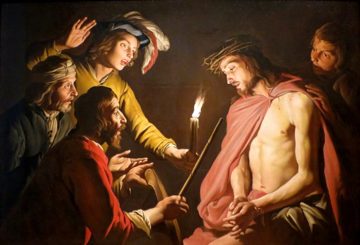 Jesus Christ in his Passion, oil painting canvas by Matthias Stom circa 1633-1639