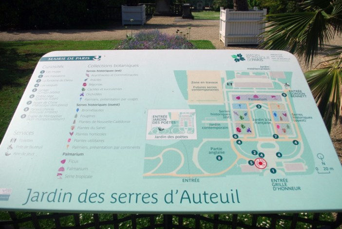 Map of the Jardin des Serres d'Auteuil © French Moments