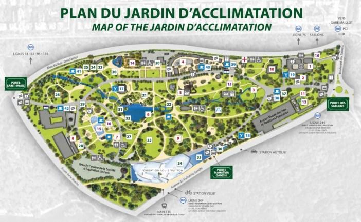 Map of the Jardin d'Acclimatation