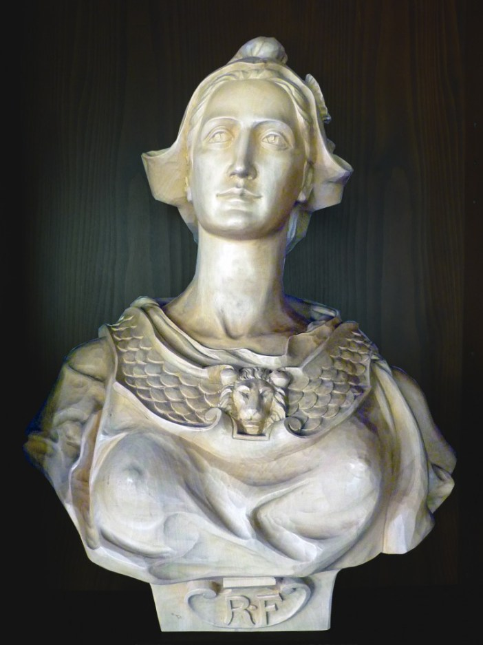 Bust of Marianne in the Town-Hall of Sigolsheim, Alsace © French Moments