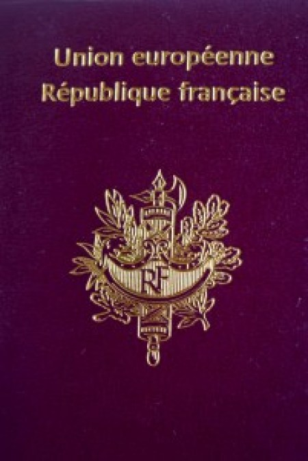 Coat of Arms of France on a French Passport