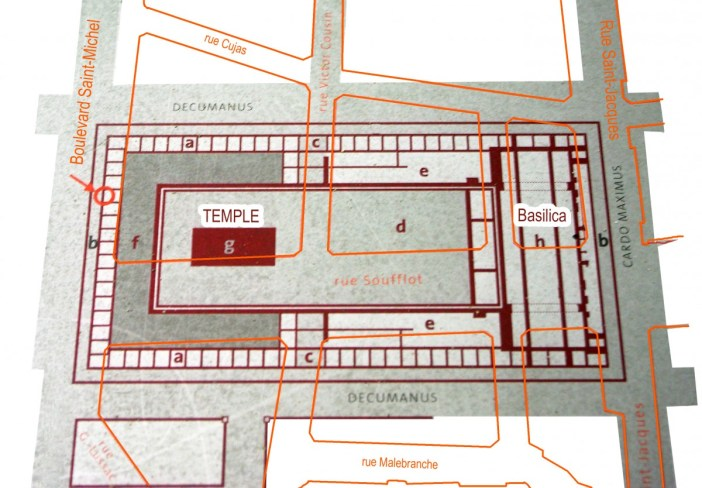 Floor Map of the Forum of Lutetia