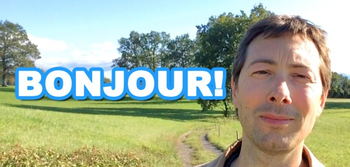 First youtube video: Bonjour from Pierre