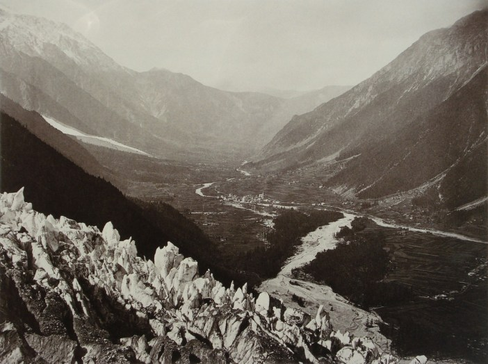 Valley of Chamonix-Mont-Blanc in 1860