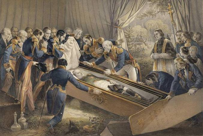 The opening of Napoleon's casket in 1840
