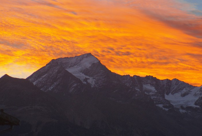 Sunset on Mont-Pourri © French Moments